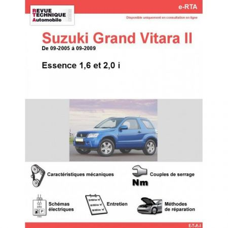 Gd Vitara II E 05-09 Revue e-RTA Numerique Suzuki