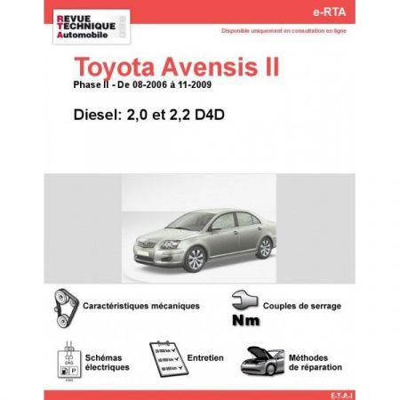 Avensis II D 06-09 Revue e-RTA Numerique Toyota