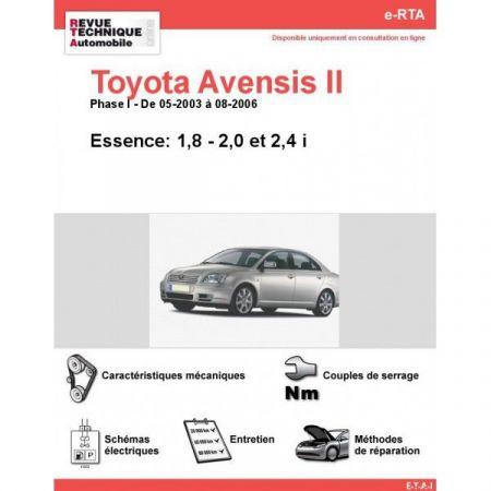 Avensis II E 03-06 Revue e-RTA Numerique Toyota