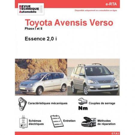 Avensis Verso E 01-06 Revue e-RTA Numerique Toyota