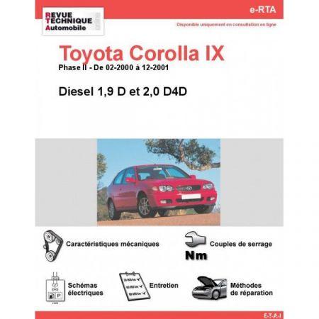 Corolla IX D 00-01 Revue e-RTA Numerique Toyota