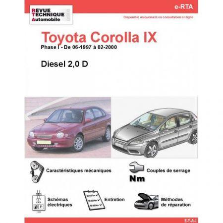 Corolla IX D 97-00 Revue e-RTA Numerique Toyota
