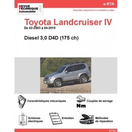 LandCruiser IV D 03-10 Revue e-RTA Numerique Toyota