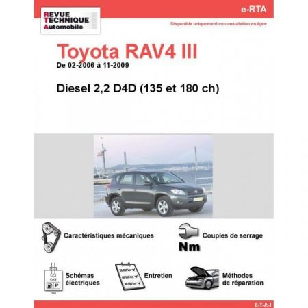 RAV4 III D 06-09 Revue e-RTA Numerique Toyota
