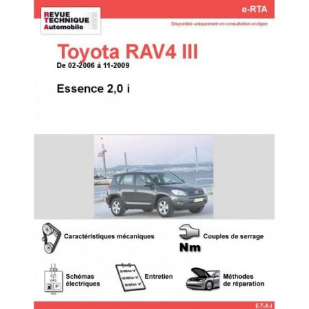 RAV4 III E 06-09 Revue e-RTA Numerique Toyota