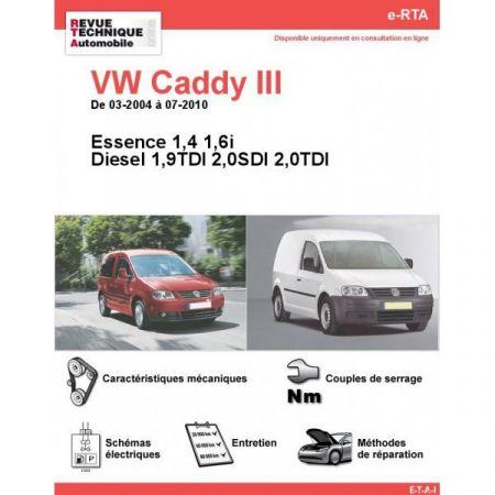 Caddy III 04-10 Revue e-RTA Numerique Volkswagen