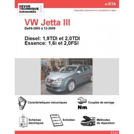 Jetta III 05-09 Revue e-RTA Numerique Volkswagen