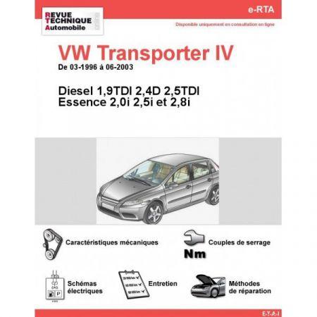 Transporter IV 96-03 Revue Technique Numerique Volkswagen