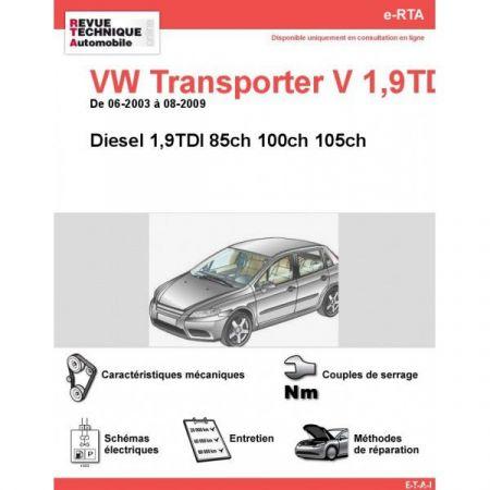 Transporter V D 03-09 Revue e-RTA Numerique Volkswagen