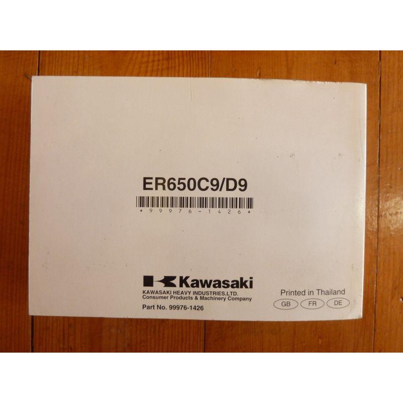 kawasaki er 6n c9 d9 sans et avec abs manuel du propri taire. Black Bedroom Furniture Sets. Home Design Ideas