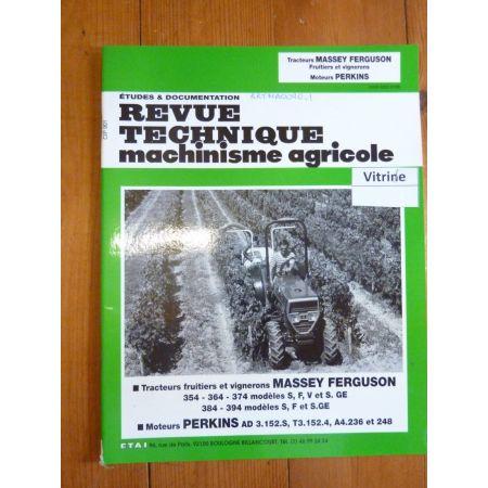 354 364 374 384 394 Revue Technique Agricole Massey Ferguson