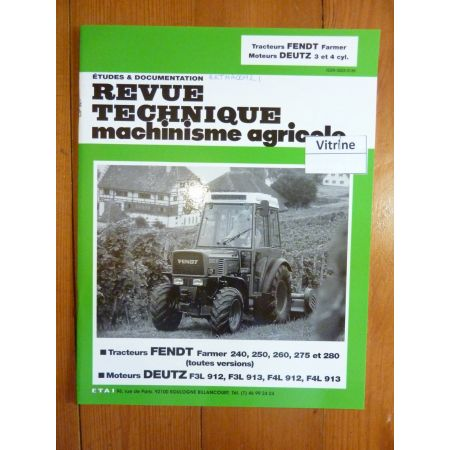 Farmer 240 a 280 Revue Technique Agricole Fendt