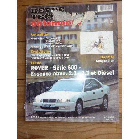 RTA Revues techniques ROVER Série 600 Essence atmosphétique 2.0l - 2.3l et Diesel