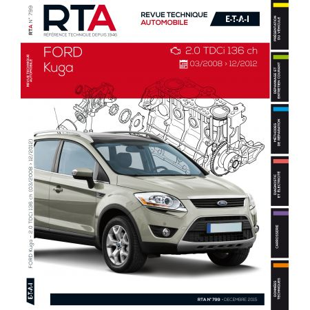 ford kuga 2 0 tdci 136cv de 03 2008 12 2012 rtab0799 d cembre 2015. Black Bedroom Furniture Sets. Home Design Ideas