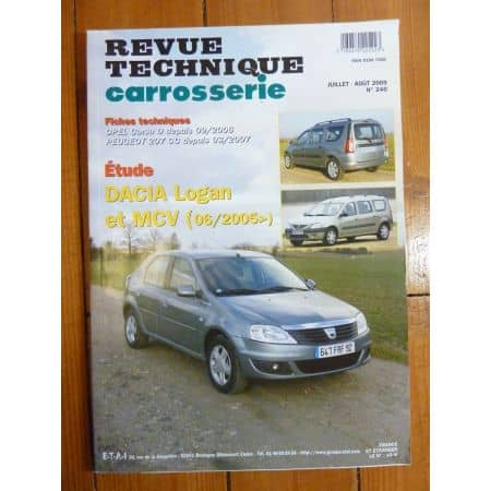 LOGAN MCV 06/05- Revue Technique carrosserie Dacia