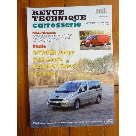 Jumpy-Scudo-Expert 01/07- Revue Technique carrosserie Citroen, fiat, Peugeot