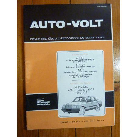230-260-300 type 124  Revue Technique Electronic Auto Volt  Mercedes