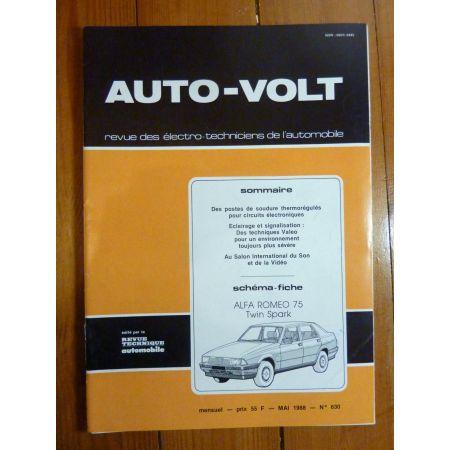 75 twin Spark Revue Technique Electronic Auto Volt Alfa-Romeo