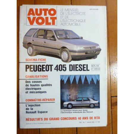 405 diesel Revue Technique Electronic Auto Volt Peugeot