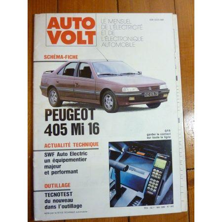 405 MI16 Revue Technique Electronic Auto Volt Peugeot
