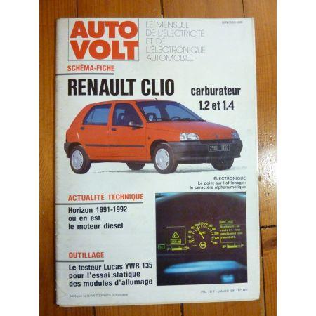 Clio Revue Technique Electronic Auto Volt Renault