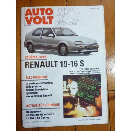 R19 16S Revue Technique Electronic Auto Volt Renault