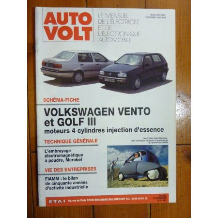 Vento-Golf III Revue Technique Electronic Auto Volt VW