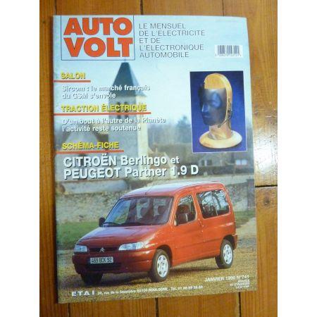 Berlingo-Partner 1.9D Revue Technique Electronic Auto Volt Citroen, Peugeot