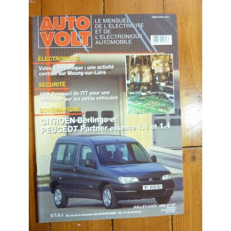 Berlingo-Partner Ess. Revue Technique Electronic Auto Volt Citroen, Peugeot