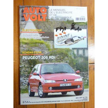 306 HDi Revue Technique Electronic Auto Volt Peugeot