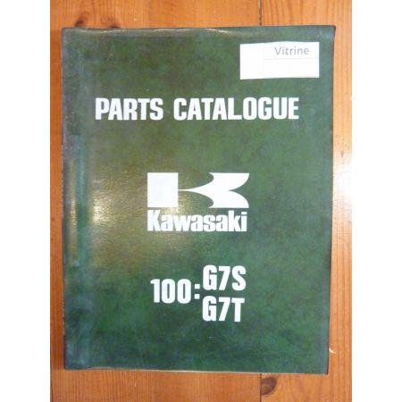 100 G7S G7T Catalogue Pieces Kawasaki