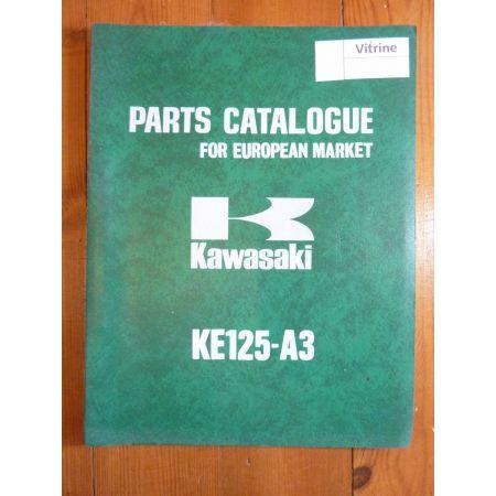 KE125 A3 Catalogue Pieces Kawasaki