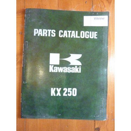 KX250 Catalogue Pieces Kawasaki