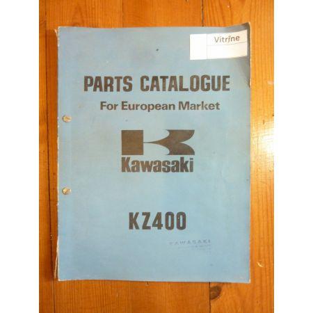 KZ400 Catalogue Pieces Kawasaki