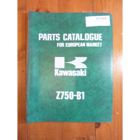 Z750-B1 Catalogue Pieces Kawasaki