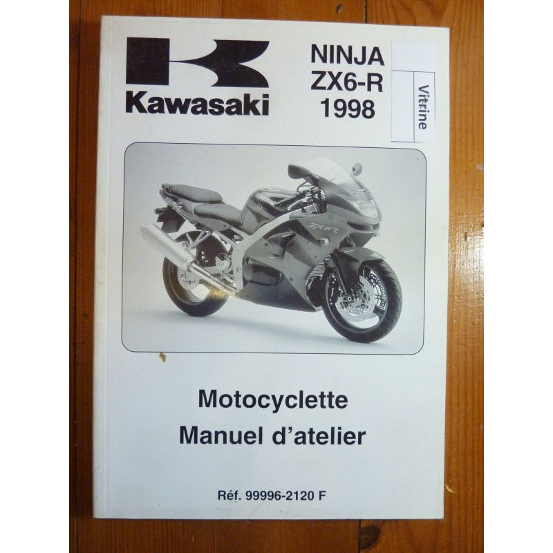 kawasaki zx6 r ninja de 1998 manuel d 39 atelier n 99996 2120f ma kawa zx6r 98. Black Bedroom Furniture Sets. Home Design Ideas