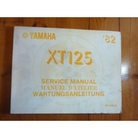 XT125 82 - Manuel Atelier Yamaha