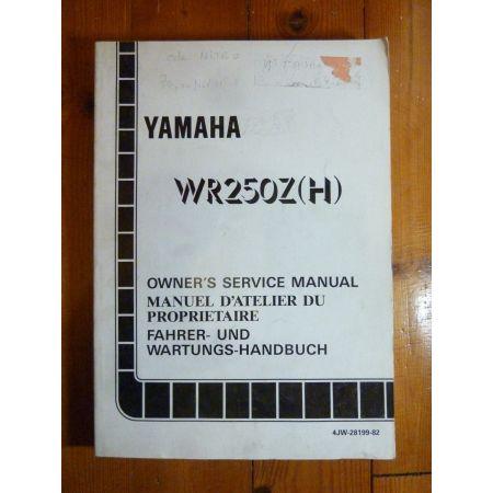 WR250Z-H - Manuel Atelier Yamaha