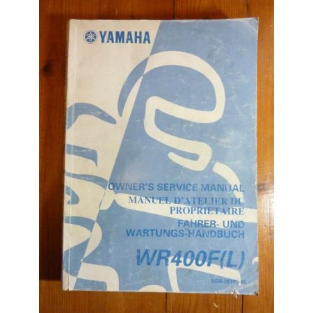 WR400F-L - Manuel Atelier Yamaha