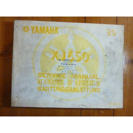 XJ650 80 - Manuel Atelier Yamaha