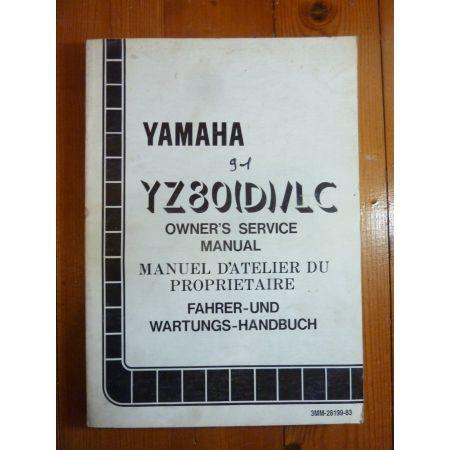 YZ80D-91 - Manuel Atelier Yamaha