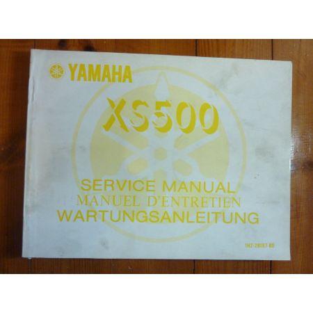 XS500 - Manuel Entretien Yamaha