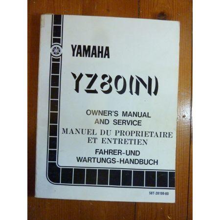 YZ80-N - Manuel Atelier Yamaha