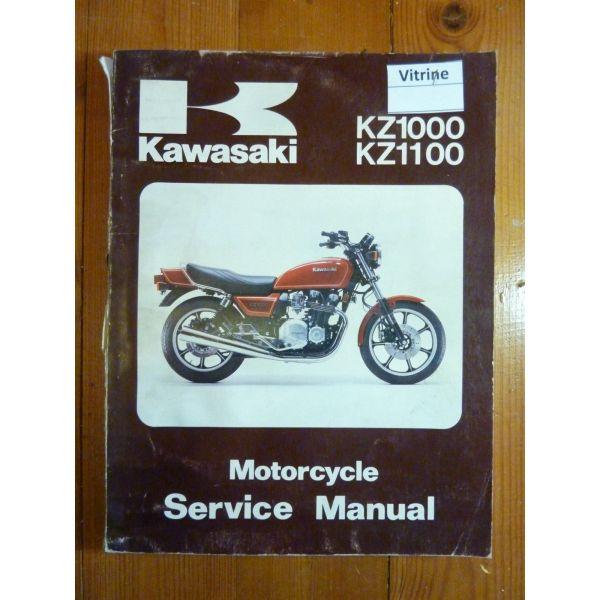 KAWASAKI KZ1000 J1, K1, M1 Et KZ1100 B1 Manuel D'atelier