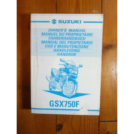 GSXF750 00 - Manuel Propriétaire Suzuki