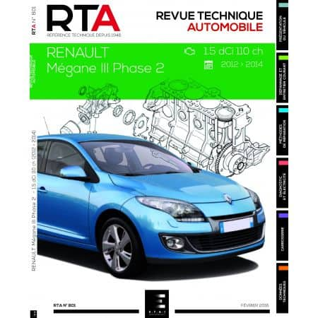 renault megane iii phase 1 5 dci 110cv de 2012 2014 rta0801 f vrier 2016. Black Bedroom Furniture Sets. Home Design Ideas