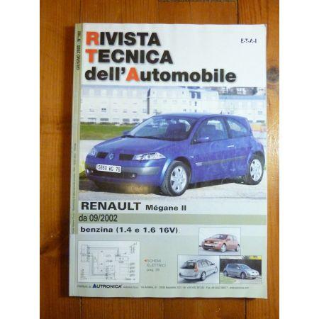 renault megane ii depuis 09 2002 essence 1 4 1 6 16v revue en espagnol rta0163e 2005. Black Bedroom Furniture Sets. Home Design Ideas