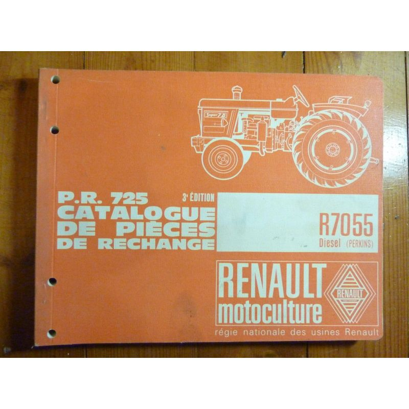 catalogue de pieces tracteurs renault pr 725 moteurs r7055 diesel ref cp ren pr725 3 3eme. Black Bedroom Furniture Sets. Home Design Ideas