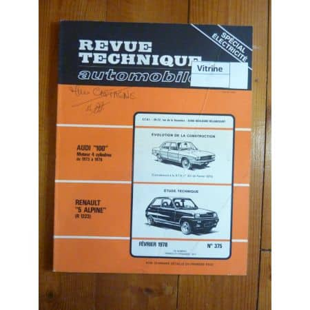 R5 Alpine Revue Technique Renault