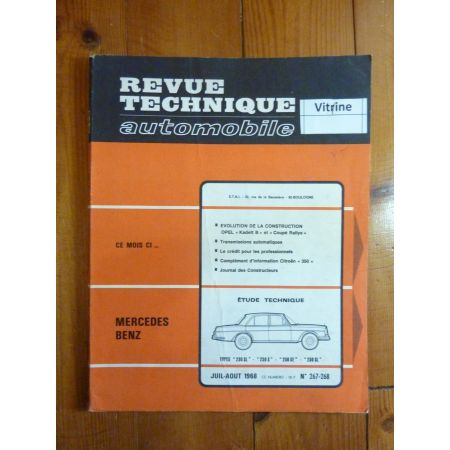 230SL 250SL Revue Technique Mercedes